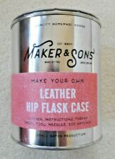 Maker & Sons 'Make Your Own' Leather Hip Flask Case