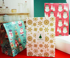 Merry Christmas Gift Boxes Party Favours Sweet Biscuit Candy Treat Pack Paper
