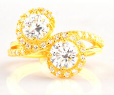 Quality Round Shape Solitaire Wedding Ring Solid 14Kt Yellow Gold 4.00Ct Deluxe