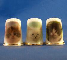 Birchcroft Thimbles -- Set of Three -- Kittens