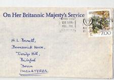 BT208 1976 Portugal BRITISH CONSULAR *OHBMS* Porto Air Mail {samwells-covers}