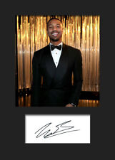 MICHAEL B JORDAN #2 A5 Signed Mounted Photo Print (Reprint) - FREE DELIVERY