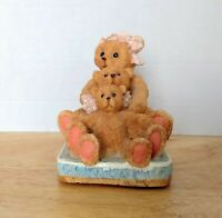 Albert Price Figurine Brown Mamma Bear And Cubs Sitting Hand Painted & Sculpted