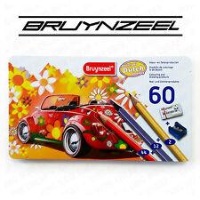 BRUYNZEEL matite colorate - 60 pezzi-in metallo latta con 12 COLORI METALLICI