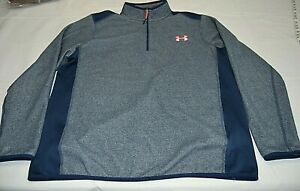 Under Armour Cold Gear Loose Fit Men's 1/4 Zip Long Sleeve Pullover Gray Size XL