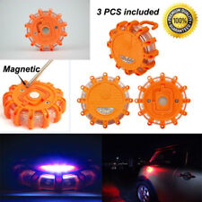 3Pc Road Flare Flashing Emergency Signal Warning LED White Light Beacon Amber AU