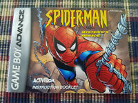Spider-Man Mysterio's Menace - Authentic - Nintendo Game Boy Advance Manual Only