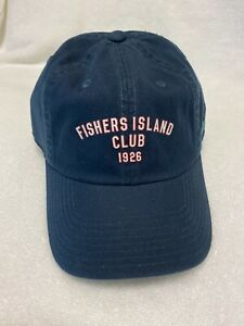 Brand New American Needle Navy Golf Hat - Fishers Island logo