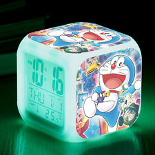 Japanese Anime Doraemon LED 7 Colors Change Night light kids Alarm Clock