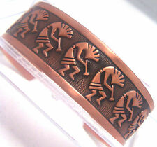 Copper Cuff Bracelet Wheeler Mfg Arthritic Sciatica Healing Detox Folklor CB 107