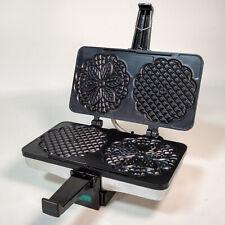 VillaWare Prego Pizzelle Baker Maker 3600-NS Italian Cookie Mold Tested