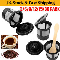 3X Reusable Refillable K-Cup Coffee Filter Pod for Keurig B3 K40 Cuisinart K-cup