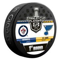 St Louis Blues 2019 Winnipeg Jets Stanley Cup Playoff Hockey Puck