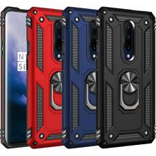 For OnePlus 7 Pro Shockproof Armor Magnetic Ring Holder Case PC+TPU Hybrid Cover