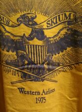 long sleeve Shirt (1975 Western Airlines) Size Large (tiny hole -see pictures)