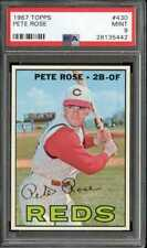 1967 TOPPS #430 PETE ROSE PSA 9 REDS CENTERED *GB0821