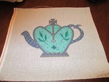 "New ListingHandpainted Canvas - Fancy Teapot - 9.25"" X 6.5"""