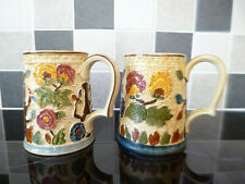 More details for pair of h.j.wood 'indian tree' ceramic tankards
