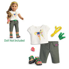 "American Girl LE LEA HIKE OUTFIT for 18"" Dolls Lea's Rainforest Watch Boots NEW"