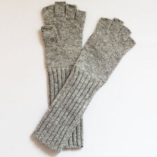 Fashion New Womens Ladies Winter Warm Long Knitted Wool Angora Fingerless Gloves