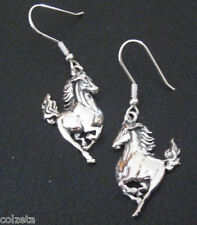 Wild Mustang horse earrings Silver (nebula)  by Peter Stone Hypo-allergenic
