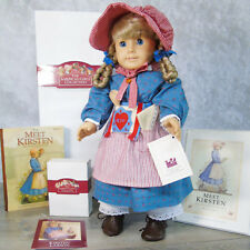 American Girl Pleasant Company KIRSTEN DOLL In MEET OUTFIT Shoes Accessories BOX