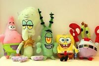6pcs/set SpongeBob Friends Stuffed Plush Toy Kid Cartoon Movie Character Gift