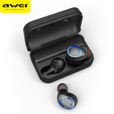 AWEI T3 IPX4 Waterproof TWS Bluetooth 5.0 In-Ear Earphone Stereo Earbuds Headset
