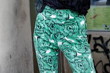 Fair Lady Modell Strechhose Hose pants stretch Rosen 90s True VINTAGE 7/8 Bein