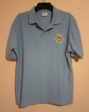 Prenton Golf Club 1905 - 2005 Centenary Light Blue Polo Shirt M Vgc Woodbank Pgc