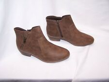 cbc9071567b9f NEW Womens Faded Glory Brown Ankle Boots 7 Side Zip