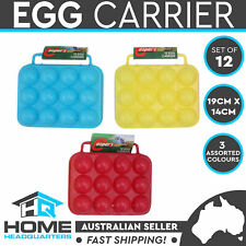 12 Eggs Capacity Carrier Storage Box Portable Plastic Holder Container Set of 12