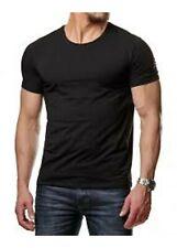 T-shirt homme 100% coton manches courte couleur noir