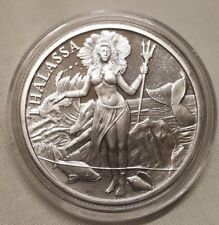1oz Silver Trident Silver Round Bullion Coin - Thalassa Goddess of the Sea