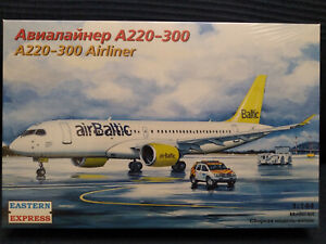 Eastern Express 144136 Civil Airliner Airbus A220-300 air Baltic  kit 1:144