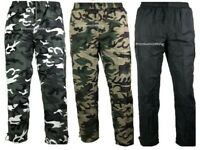 Mens Thermal Lined Trousers Plain Camo Joggers Pattern pants Fleece Bottoms