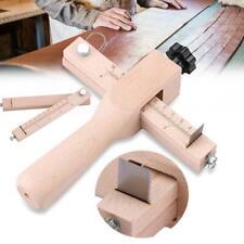 Cortador de correa de cuero de bricolaje Leathercraft Cord/ón Cord/ón de encaje Fabricante de tiras Cortador de alambre de corte giratorio para cintur/ón de tiras Herramienta de corte manual