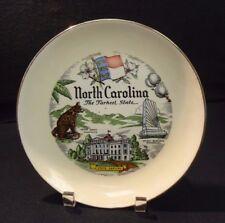 Vtg North Carolina The Tarheel State Souvenir Decor Plate, Rhythm Homer Laughlin