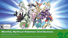 Ultra Pokemon Sun and Moon 20th Anniversary Mythical Event Pokemon 2016
