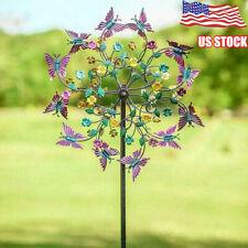Metal Butterfly Wind Spinners Garden Windmill Outdoor Yard Lawn Decor Ln