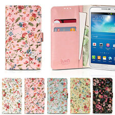 Garden Flower Wallet Case for LG G7 G6 G5 G4 G3 G2 V40 V30 V20 V10 Q9 Q7 Q8 Q6