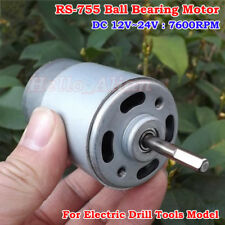 RS-755 Motor DC12V-24V 7600RPM Large Torque Ball Bearing For Electric Drill Tool