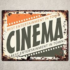 PP0036 Rust Cinema Parking Plate sign Beach Bar Pub Cafe Wall Decor Gift