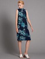 M&S Autograph Navy Blue Mix Floral Shift Dress Sz UK 6 10 12 14 16  20 22