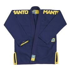 Manto BJJ Gi X3 Navy Gold Brazilian Jiu Jitsu bjj gi Uniform Kimono