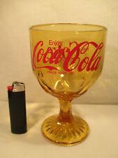 Grosses Coca Cola Coke Kelch Vintage Glas Einzelglas alt