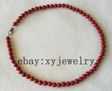 charming 6mm red shell pearl choker necklace 16 inch
