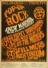 ANDY WARHOL/VELVET UNDERGROUND - Fillmore 1966 Music Concert Poster Art