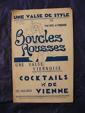 Partition Earring Redheads Ariel Cocktail de Vienne of Maurizi Music Sheet
