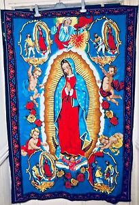 NEW RELIGIOUS OUR LADY OF GUADALUPE HOLY MARY PRAYER MAT TAPESTRY WALL HANGING